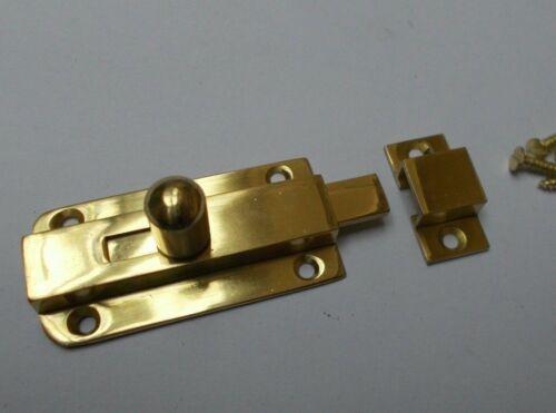 VINTAGE petit bouton Boulon-Old Style Rétro Porte D/'Armoire Diapositive Serrure Loquet Laiton
