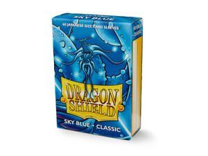 Japanese Classic Sky Blue Case Display Dragon Shield Sleeves - 10x 60 ct Packs