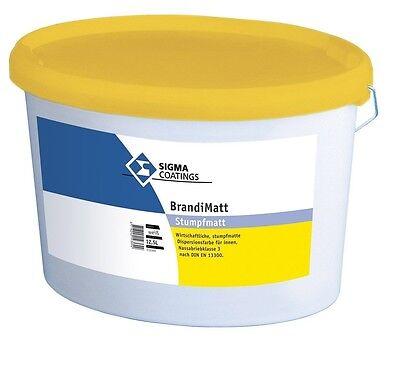5x Sigma Brandimatt 12,5 Liter Wirtschaftliche Baustoffe & Holz Fassade Matte Kunststoffdispersionsfarbe