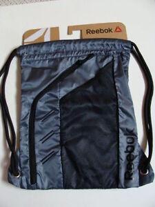 33d5c20576 NWT REEBOK Delta Drawstring Gray Backpack Boys Sport Cinch Sack Book ...