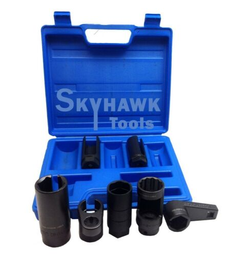 7Pc Oxygen Sensor Socket Set Automotive Vacuum Switch Sending Off Set Skt Wrench