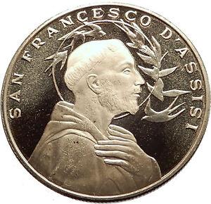 SAINT-FRANCIS-of-ASSISI-amp-Porziuncola-Church-in-Basilica-Christian-Medal-i63557