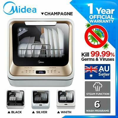 Details about  Midea Second Generation Benchtop Mini Dishwasher Touch Control 1-24 Hours delay