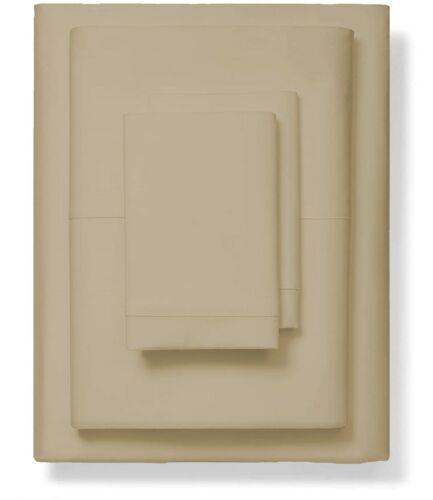 Super Soft Taupe Solid 4 PCs Sheet Set 1000 TC Egyptian Cotton King Size