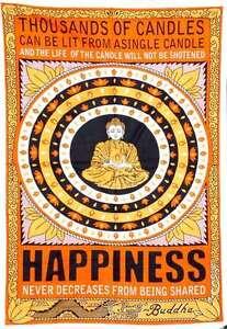 Buddha Tapestry Wall Hangings orange buddha happiness symbol bohemian tapestry wall hanging home