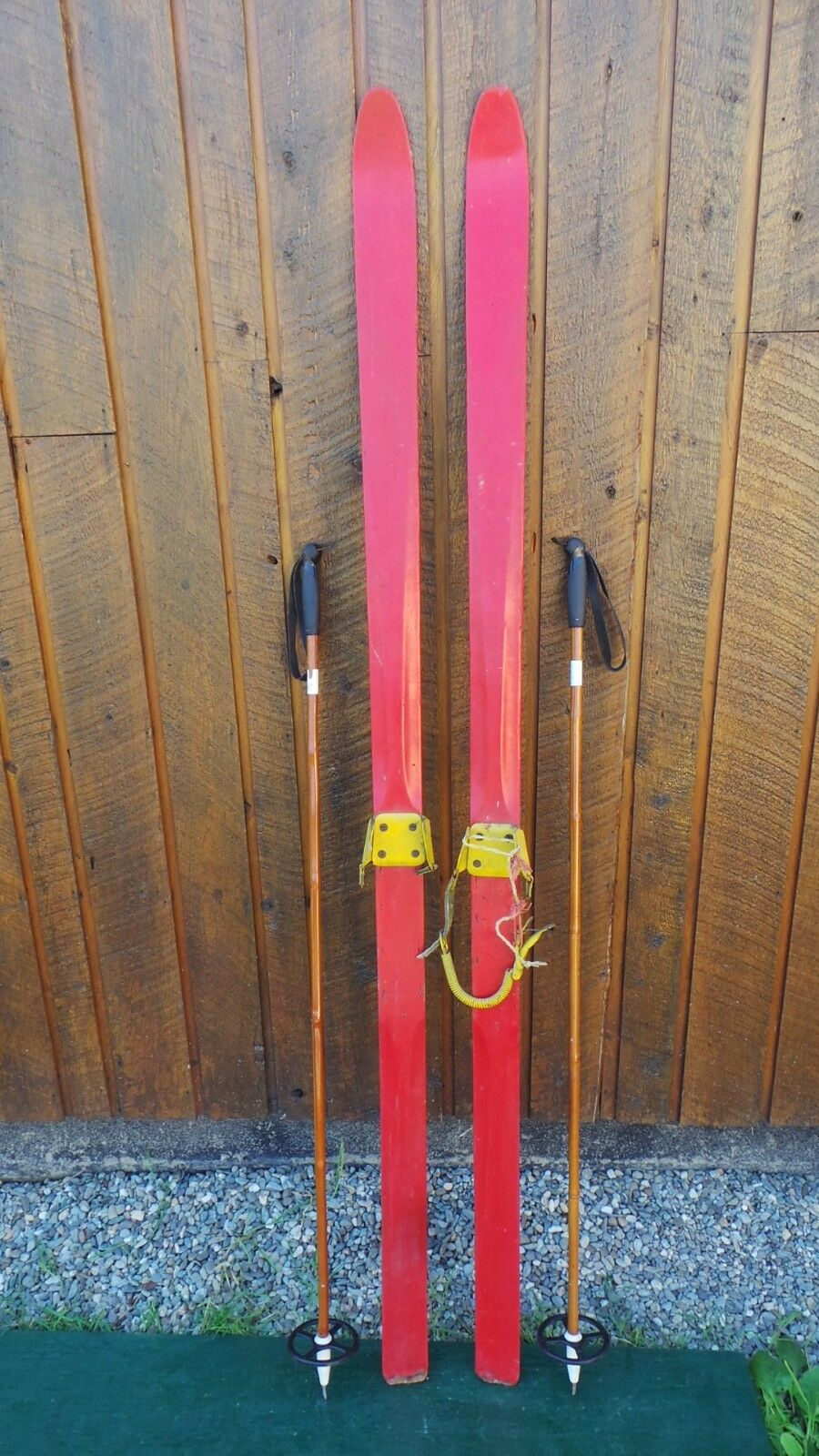 INTERESTING OLD Wooden ROT Skis 84