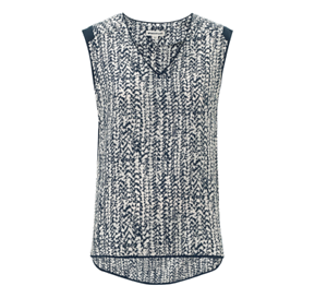 Print New With Multi Tag Top WhistlesBraid Size 16 Navy b6yfvg7Y