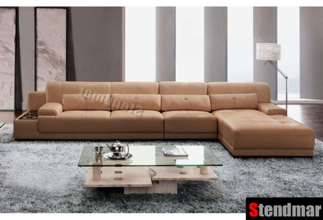 3pc Modern genuine leather sectional sofa set S2630