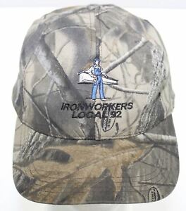 Details about Vintage Iron Workers Local Union No  92 Birmingham Alabama  Camo Snapback Cap Hat