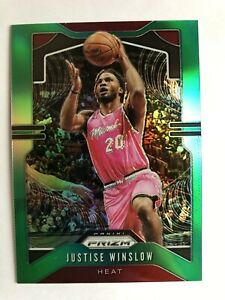 2019-20-Panini-Prizm-Justise-Winslow-Green-Refractor-MIAMI-HEAT
