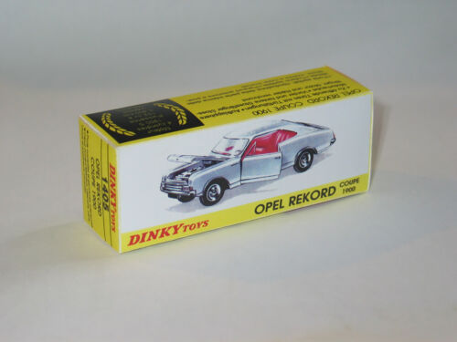 Boite Création DINKY TOYS 1405 OPEL REKORD COUPE 1900