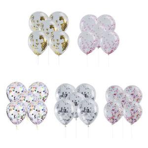 5Pcs-12-034-Gold-Foil-Confetti-Latex-Balloons-Helium-Wedding-Birthday-Party-Decor