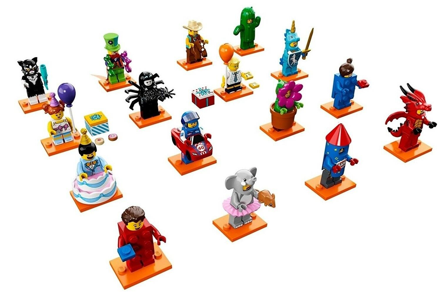 LEGO Series 18 Collectible Minifigure (71021) SET OF 16 MINIFIGS 40 YEAR ANNIV.