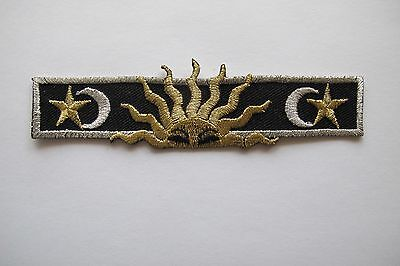 #3361 Gold,Silver Trim Fringe,Pagan Astrology Sun,Star Embroidery Applique Patch