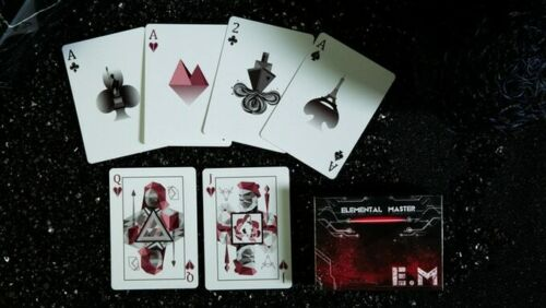 Playing Cards Limited Edition of 3000 Marked Elemental Master Red