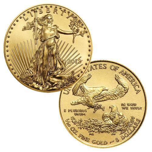 2018 $5 1//10 Ounce Gold American Eagle BU