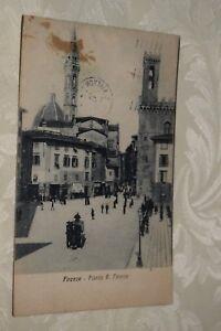 Cartolina Firenze Piazza S. Firenze 1923 (BI30) - Italia - Cartolina Firenze Piazza S. Firenze 1923 (BI30) - Italia