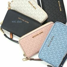New Michael Kors Jet Set Large Zip Phone Wallet Wristlet