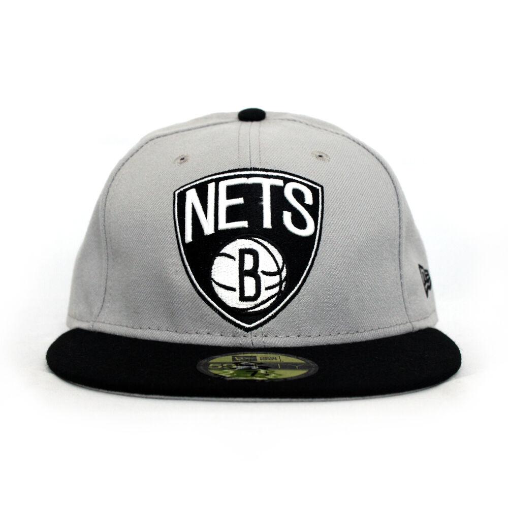 huge discount d4f92 df6d8 ... shopping brooklyn nets nba new era 59fifty fitted nba nets hat grey  black 697857 a17d8 1bb8c