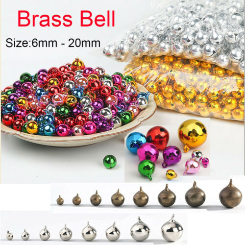 6-20mm Multi Color Brass Jingle Bells Pendant Bead Jewellery Christmas Party Dec