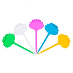 100x Plastic Nursery Garden Plant Pots Label Thick Tag Mark Flower Macetas Decor