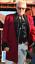VELVET ROLL COLLAR WINE RED ROCK/'N/'ROLL. TEDDY BOY DRAPE JACKET CHEST 36