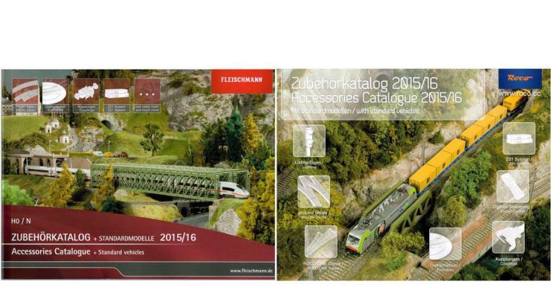 ROCO FLEISCHMANN Zubehörkataloge Standardmodelle 2015 16 H0 H0e - NEU
