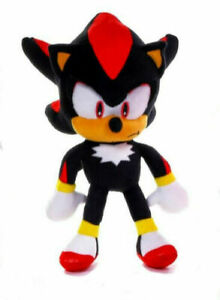SHADOW-THE-HEDGEHOG-Official-12-034-Sega-Sonic-Soft-Plush-Teddy-Toy-Brand-New
