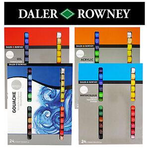Daler Rowney Simply Paints 24 X 12ml Watercolour Gouache