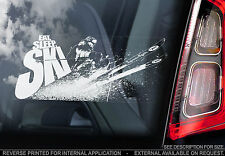 EAT, SLEEP, SKI - Car Window Sticker - Snow Snowboard Graphic X Skier Skiing