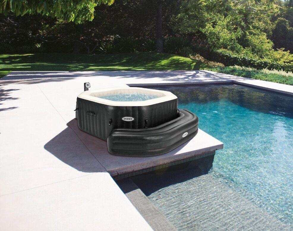 Sitzbank aufblasbar Sitz Bank dunkelbraun für Pure Spa Octagon Whirlpool