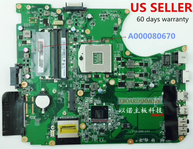 A000080670 HM65 Motherboard for Toshiba Satellite L750 L755 Laptop US Loc, A