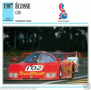 ECOSSE-C286-1987-CAR-VOITURE-GRANDE-GREAT-BRITAIN-BRETAGNE-CARTE-CARD-FICHE