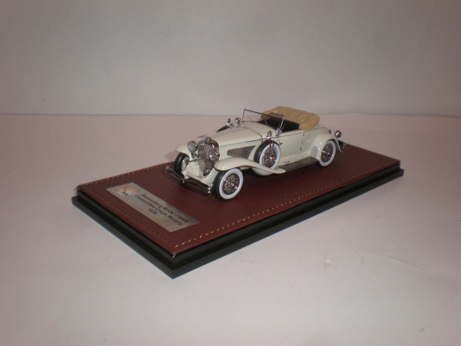 1929 duesenberg model j 1   43 swb cabrio coupé murphy weiß   bma