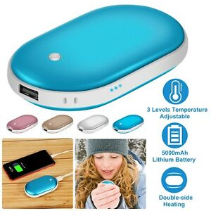 5000mAh Rechargeable Hand Warmer USB Heater Electric Pocket Gifts Power Bank,