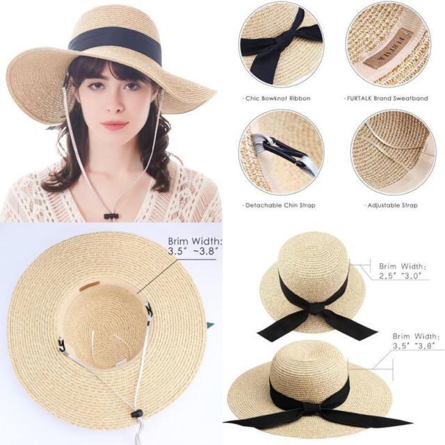 c5bf1f57 Beach Hat Women Summer fashion Sun Hat Upf 50+ Finshing Hats Bucket Straw  Hat US