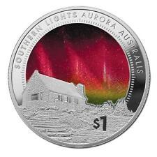 1 Oz Silber Southern Lights Aurora Australis 1 NZD Neuseeland Proof