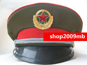 276fd0d5fd0 Image is loading 59cm-Collectable-Military-officer-Captain-039-s-Visor-