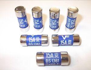 BS1361 2 PACK 240v. LC SIZE LAWSON // NIGLON CONSUMER UNIT 15 AMP FUSE