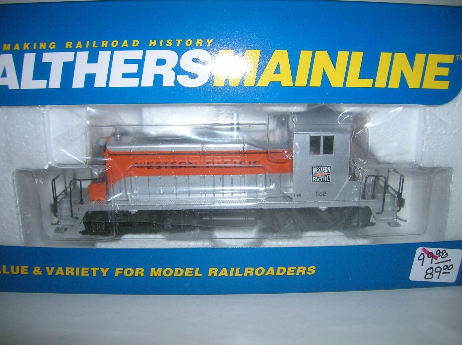 WALTHERS  910-9232  WESTERN PACIFIC EMD SW-1 DIESEL LIST  98.95 LOT   12707
