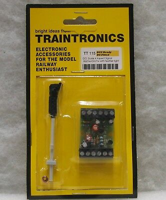 Pratico Traintronics Oo Scale Tt115 4 Aspect Rd/yw/gn/yw With Feather Right Signal