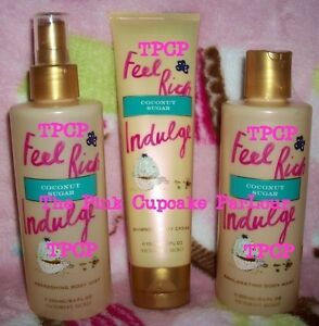 e5065db76cf5b Details about VICTORIA'S SECRET FEEL RICH INDULGE COCONUT SUGAR MIST  SHIMMER CREAM WASH LOT