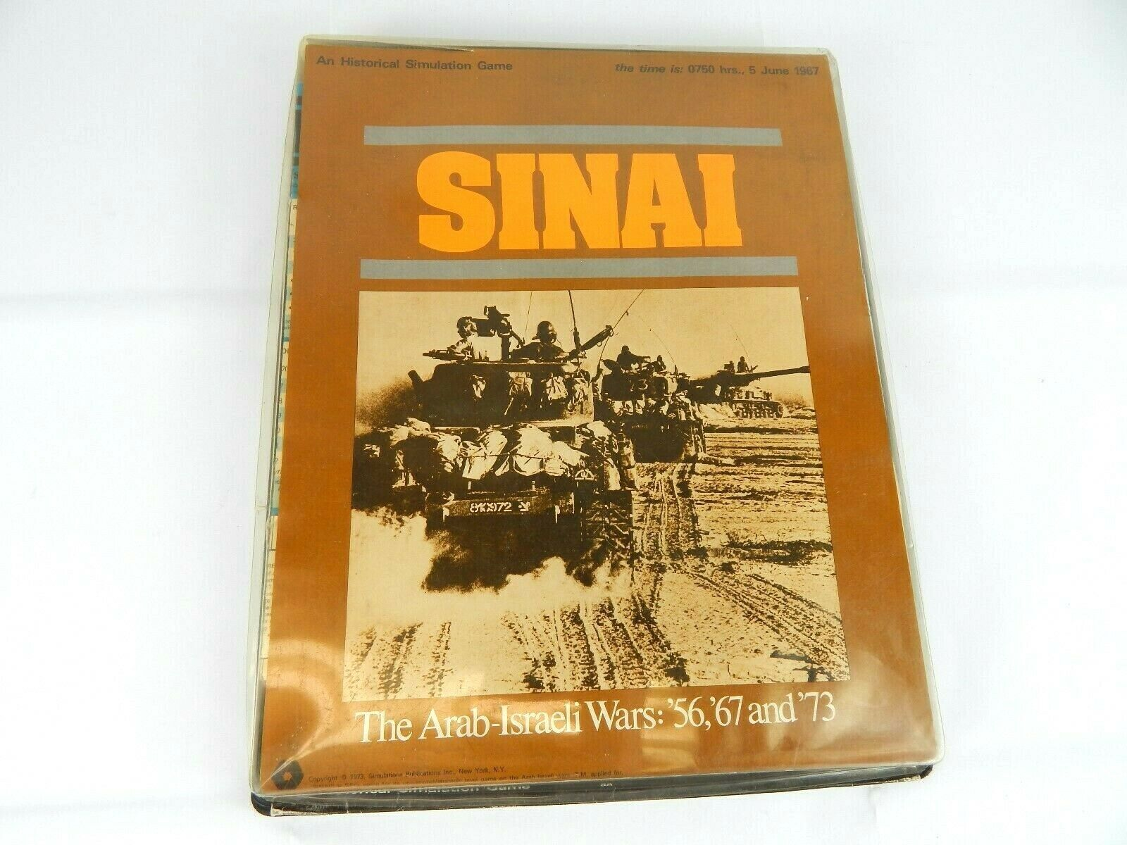 Vintage Sinai The Arab-Israeli Wars Board Game SPI 1973