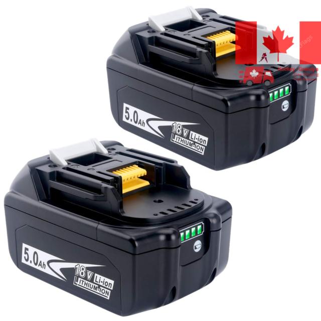 2Pack 5 0Ah 18V Lithium Battery BL1830B BL1850B for Makita 18-Volt LXT Lithiu...