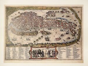 Antique-Vintage-Map-of-Venice-1588-Theatrum-Orbis-Poster-Print-NEW