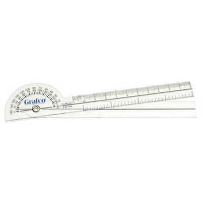 6 Clear Plastic 360 Degree Goniometer Grafco