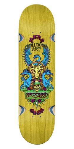 Krooked Mark Gonzales Wes Humpston GUEST ARTIST Skateboard Deck YELLOW STAIN