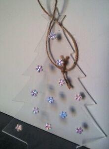 DECORAZIONE-di-NATALE-Albero-in-plexiglass-con-fiori-Addobbo-natalizio-casa-home