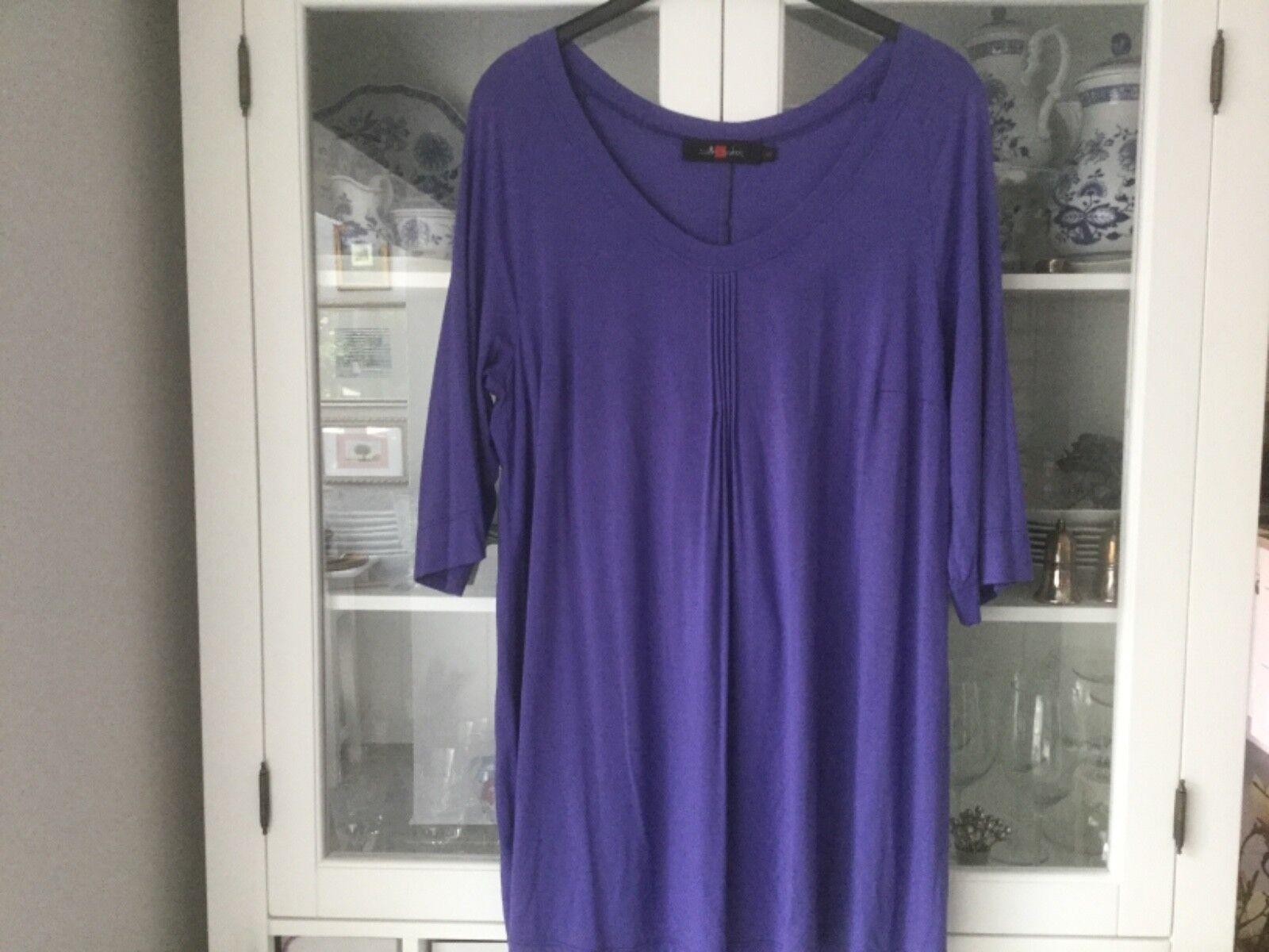 Sallie Sahne Tunika Shirt Gr.48 lila