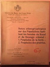 Annales du Musée du Congo Belge - Notes ethnographiques